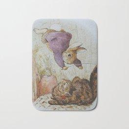 Bunny vs Kitty Bath Mat