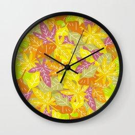 Autumn Leaves_K Wall Clock