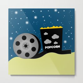 Movie night  Metal Print