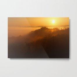 Golden Sunrise Over The Mountain Metal Print