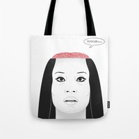 carnage Tote Bags featuring THE FLOWER OF CARNAGE - KILL BILL - MEIKO KAJI by Mirco Greselin