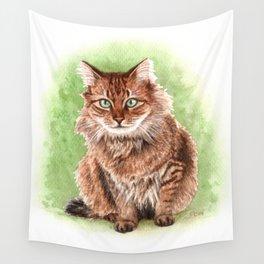 Somali cat portrait Wall Tapestry