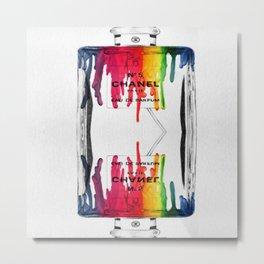 Symmetrical CC No.5 Drip Metal Print