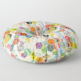 Math in color (little) Floor Pillow