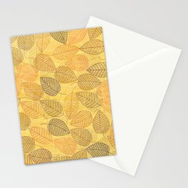 LEAVES ENSEMBLE YELLOW Stationery Cards