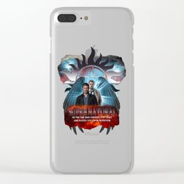 Supernatural Castiel I am the one who raised you from Perdition Clear iPhone Case