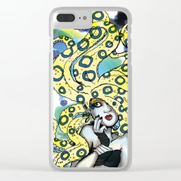 Cold Blooded - Blue Ringed Octopus Clear iPhone Case