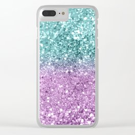 Mermaid Girls Glitter #6 #shiny #decor #art #society6 Clear iPhone Case