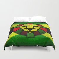 rasta Duvet Covers featuring Rasta Lion. by T-shirtevolution.com