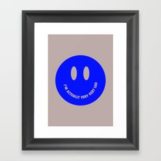 Very very sad Framed Art Print
