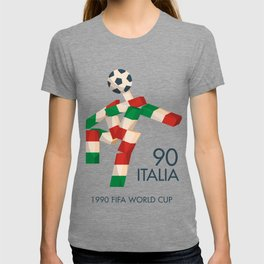 Vintage World Cup poster, Ciao, Italia 90 mascot, old football print T-shirt