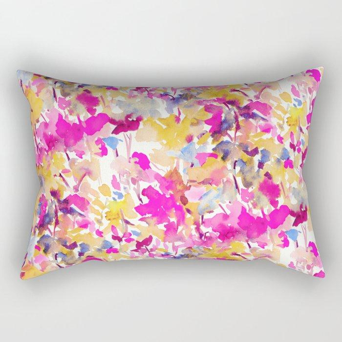Local Color Yellow Pink Rectangular Pillow