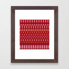 Metal finds pattern Framed Art Print