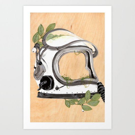 Ground control to Major Tom Art Print
