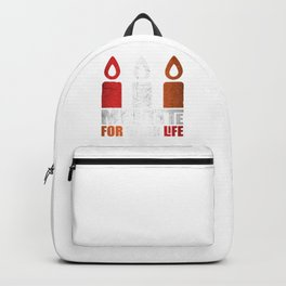 Distressed Candles Meditate For Better Life Backpack