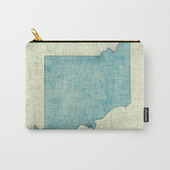 Missouri State Map Blue Vintage Carry-All Pouch