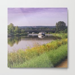 canal boatman Metal Print