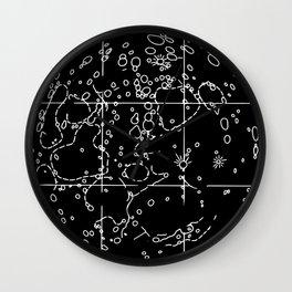 Moon Map Wall Clock