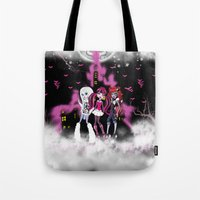 monster high Tote Bags featuring Monster High by Joshua Epling