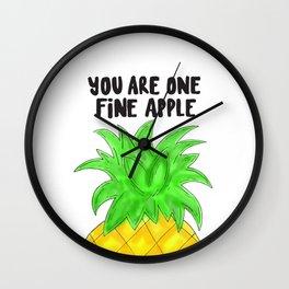 Pineapple Pun Wall Clock