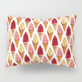Ice Cream Pattern - Soft Serve Pillow Sham