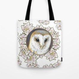 Barn owl small Tote Bag