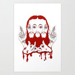 blood of christ Art Print