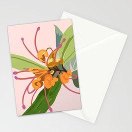 Grevillea - Orange marmalade Stationery Cards