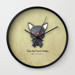 Duke the French Bulldog by leatherprince Wall Clock