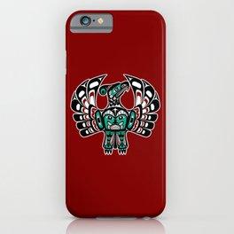 Northwest Pacific coast Haida art Thunderbird iPhone Case