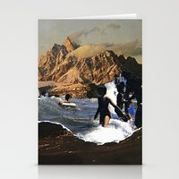 breaking Stationery Cards featuring Breaking by Lindsey Boss