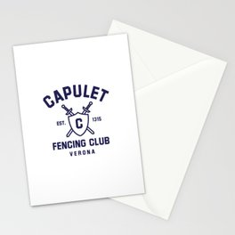 Capulet Fencing Club - Romeo & Juliet Stationery Cards