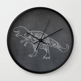 Tyrannosaurus, Rex Dinosaur (A.K.A. T REX) Butcher Meat Diagram Wall Clock