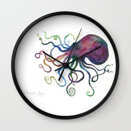 Purple octopus Wall Clock