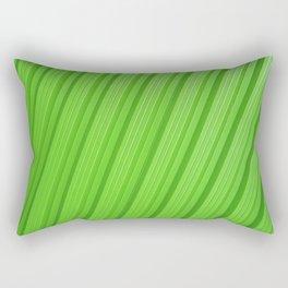 Stripes II - Green Rectangular Pillow