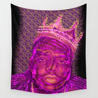 notorious Wall Tapestries featuring B.I.G Notorious by Dewi Gale