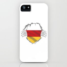 German Flag Europe European Country Patriotism Gift Germany Chest iPhone Case