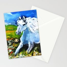Horse in the landscape Stationery Cards
