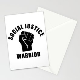 Social Justice Warrior, Black Power Fist, Black Text, Power of Peace, Super Sharp PNG Stationery Cards