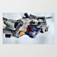gundam Area & Throw Rugs featuring Gundam Pride by Julie Maxwell