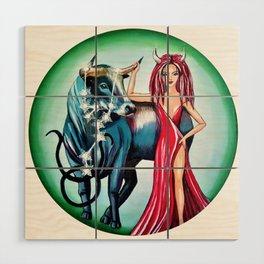 Taurus Zodiac Sign Wood Wall Art