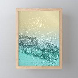 Lemon Twist Beach Glitter #2 #shiny #decor #art #society6 Framed Mini Art Print
