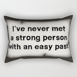 Strong Person Quote Rectangular Pillow
