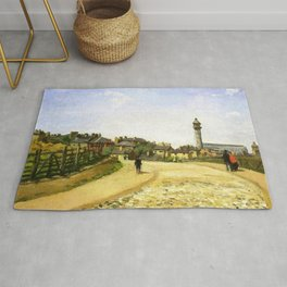 Upper Norwood Chrystal Palace London 1870 By Camille Pissarro   Reproduction   Impressionism Painter Rug