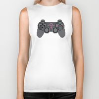 video games Biker Tanks featuring Support Women in Video Games by Inappropriately Adorable