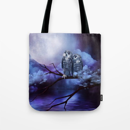 Cute couple owls Tote Bag