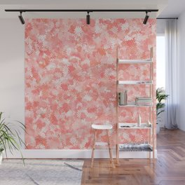 LIVING CORAL - PETITE FLORAL DESIGN Wall Mural