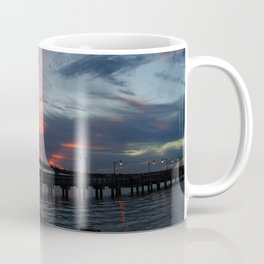 Jensen Beach Fishing Pier at Sunset Coffee Mug