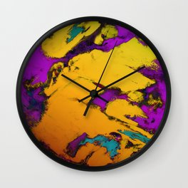 Yellow erosion Wall Clock