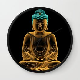 Buddha glow Wall Clock